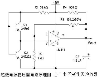 一款超低输出电压稳压器--low