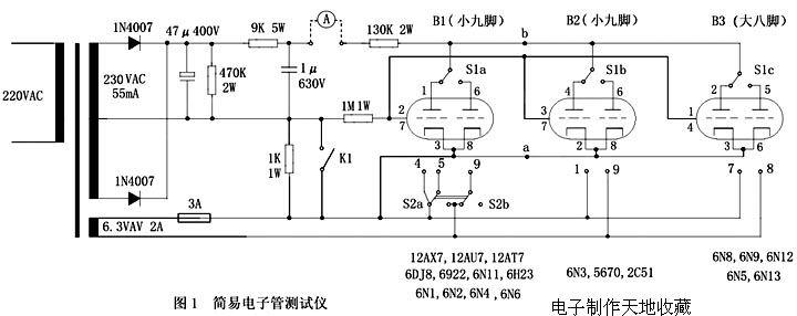 电子管收音机的电源