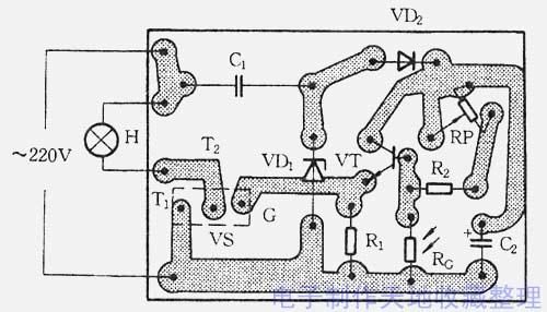 自制单向可控硅12v稳压电路图