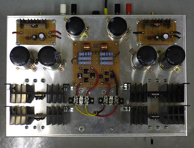 訂正。回路 Q7 周辺 V2.5 回路動作。抵抗値低、辺設計方法分、実際回路組、最大振幅超出力波形正負 18[V] ~ 19[V] 決。 実際回路基板上組、発振 Q5, Q6 発振防止用入。回路図 68[pF] 、私 33[pF] 2個並列接