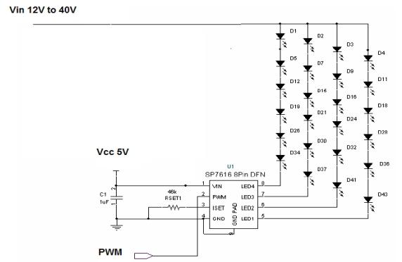 多颗LED驱动方案的设计,LED driver 关键字:多颗LED驱动方案的设计 由于LED工艺的不断改进和LED厂商的壮大和成熟,LED的应用领域越来越广,已从最初的单纯小尺寸LCD背光应用发展到现在的仪器仪表指示灯、照明灯、矿灯、路灯、汽车灯、大屏幕广告和LCD TV。随着市场的需求和发展,LED的应用领域将会渗透到各个行业中。 照明和提供光源的LED应用通常需要大电流才能提供足够的亮度,因此需要很多数量的LED。传统上有两种组合方案:LED串联方案和LED并联方案。 LED串联方案中的LED电流一致