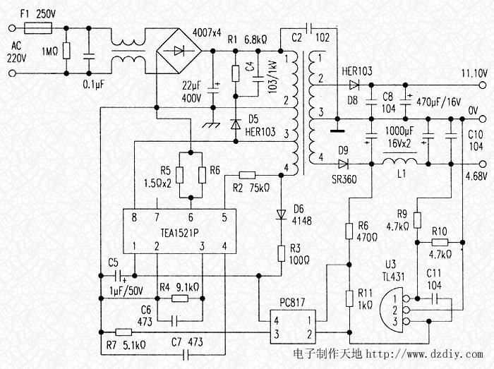 at89s52的电源接线图