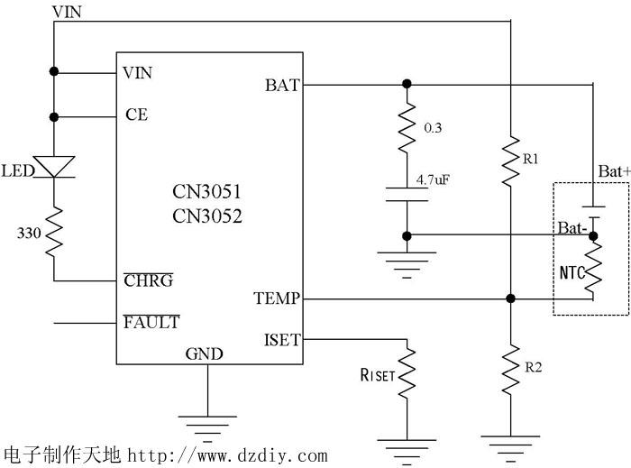 集成电路介绍--cn3051