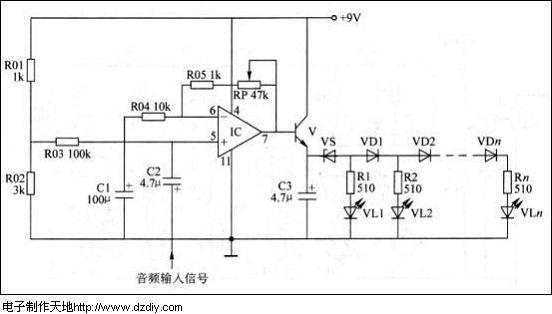 电子制作天地---电平指示电路
