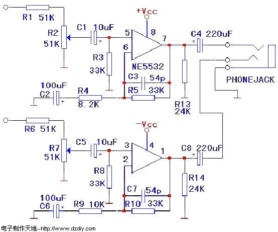 NE5532制作的耳机放大器--NE5532 headphone amplifier