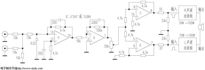 用两个单功放组成btl功放电路--btl