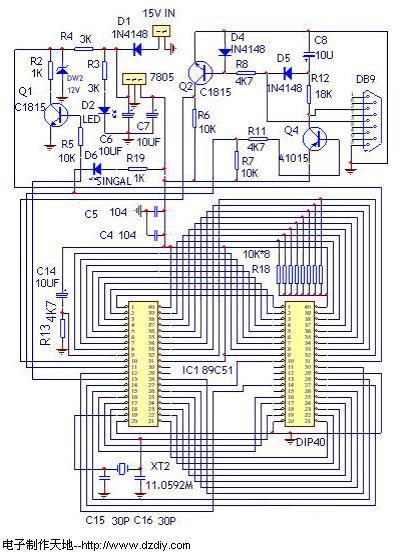 大家制作,我把电路简化设计了一下:-自制AT89C51编程器图片