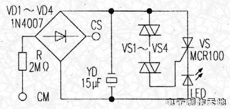 电子制作天地--试电笔电路