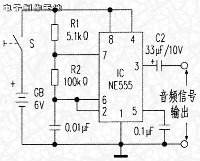 用ne555制作音频信号发生器--ne555