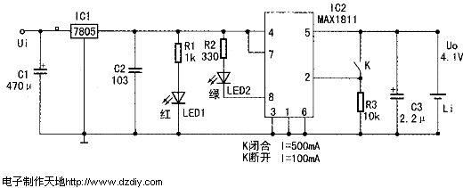 锂离子电池充电器电路
