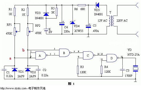 温度报警器电路--电子制作天地