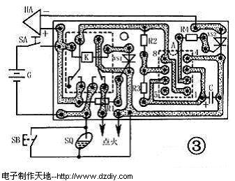 的印制电路板接线图