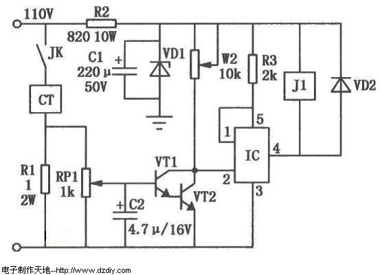 自动控制电路类  蒸汽熨斗自动保护电路