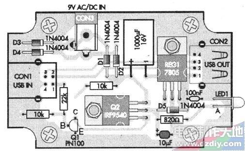 量程的数显电流表 ◎ rt9266万用表9v电池代用电路