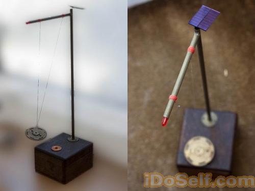 太阳能电子钟摆--solar