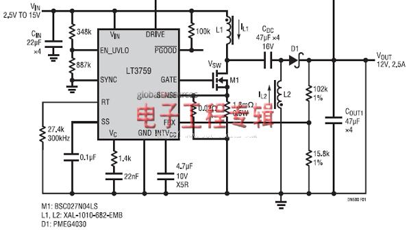 lt3759 dc/dc开关电源控制器设计要点