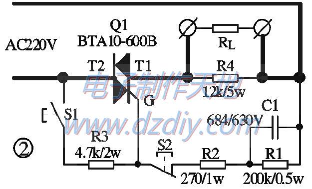 该电路带大电容性负载时可控硅很难触发(如电磁炉,电磁炉输人端一般