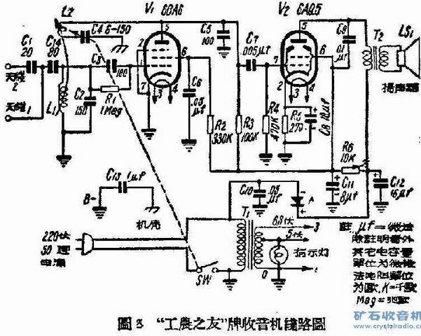对于带低放的再生机,经典电路是用的