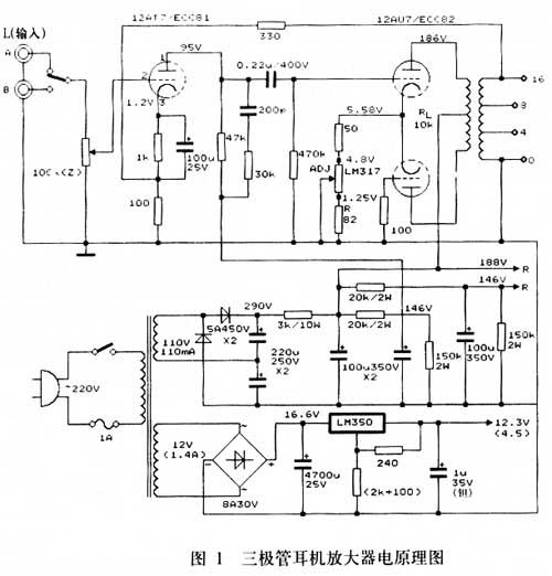 图1输出级两只三极管阴极采用了恒流源电路