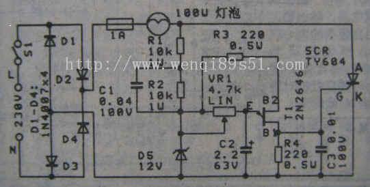 线性的调光控制电路--linear light adjust circuit